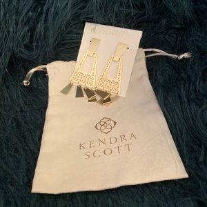 Kendra Scott Silver Dangle Earrings